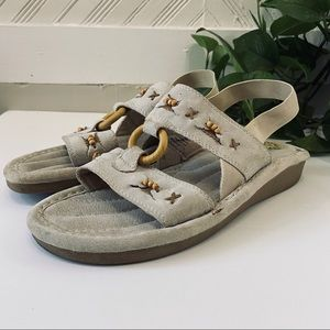 Earth Spirit • Boho Taupe Comfort Sandals